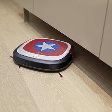 Ecovacs Robotics Deebot Slim Marvel Edition - Ultra-flacher Staubsaugerroboter mit Direktabsaugung (optimiert für Tierhaare) Captain America -