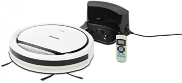MEDION MD 16192 Saugroboter mit Ladestation, langer Laufzeit (80 Min.), 3 Reinigungsprogrammen und 350 ml Aufnahmevolumen, weiß -