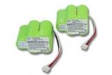 2x vhbw Ni-MH Akku 3300mAh (6V) für Staubsauger Ecovacs Deebot D62, D63, D65, D73, D73n, D76, D77, D79 wie 945-0006, 945-0024, 205-0001, LP43SC3300P5. -