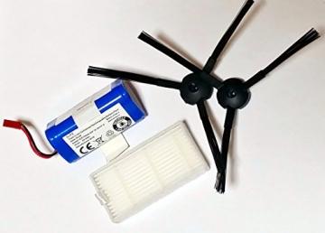Ersatzteil-Set für Medion MD 16192- 1 Paar Bürsten, 1 Stück Hepa-Filter und 1 Stück Akku -