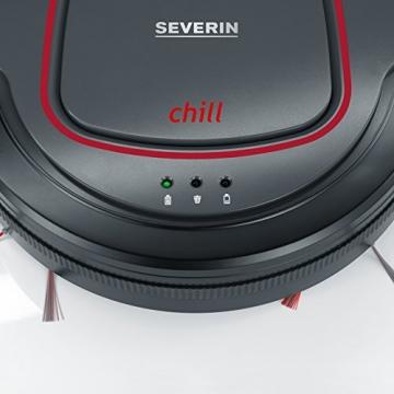 Severin RB7025 Saugroboter, chill, Laufzeit ca. 90 min, Inhalt ca. 350 ml, mit Long-Live Lithium-Ionen-Akku, platingrau -