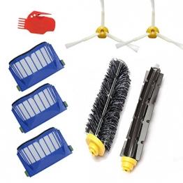 Techypro® Bürstenmodule für iRobot roomba 585 595 600 620 650 660 Reinigungskit Wartungskit Bürsten Filter Set -