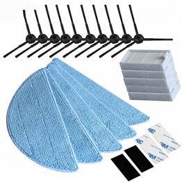 TOP NEU Seitenbürste HEPA Filter Tuch Velcro für Chuwi iLife iLife 5Mop V5S V3 V3 + V5 v5 pro x5 iLife v5pro Staubsauger-Teile -